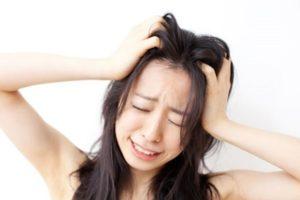 女性のひげ・ストレス